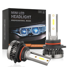 2x Mini Led H7 Headlight Bulbs 80W 8000LM H1 H7 Led Bulb 9005/HB3 9006/HB4 H8 H9 H11 Fog Light COB Car Light Kits 6000K 12V(China)
