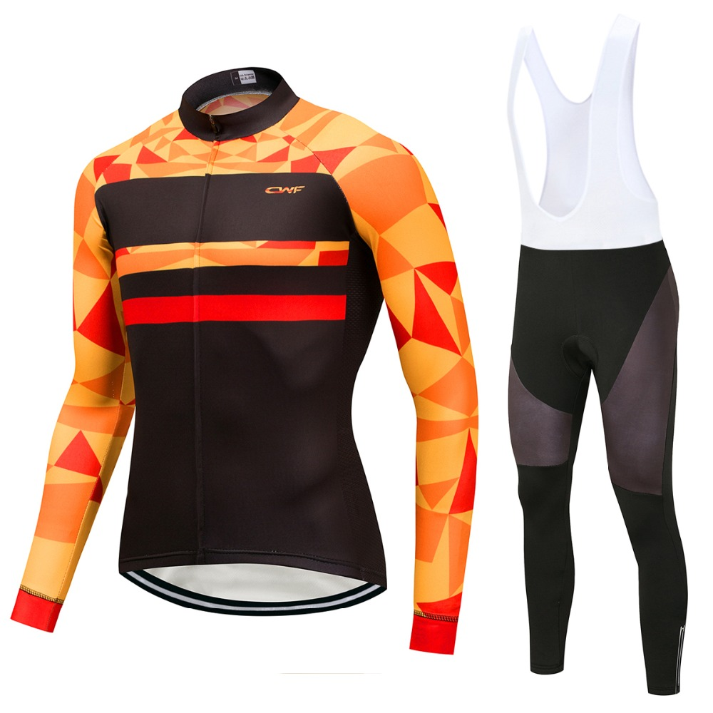 Pro Team Cycling Jerseys Set Spring Long Sleeves Racing MTB Suit Windproof 9D Gel Pad Bicycle bike shirt Outdoor&Sports