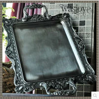 antique rectangular 52*36cm metal serving tray bandeja decorativa food tray decorative metal serving trays vintage tray FT019