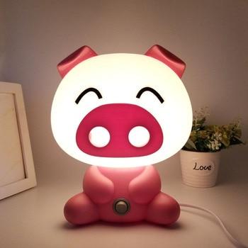 Lovely Pig Lights Modern Cute Baby Bedroom Lamp Night Light Led Night Lamp Christmas Gift Bedside Decor Kids Desk light EU 220V vasos sanitários coloridos