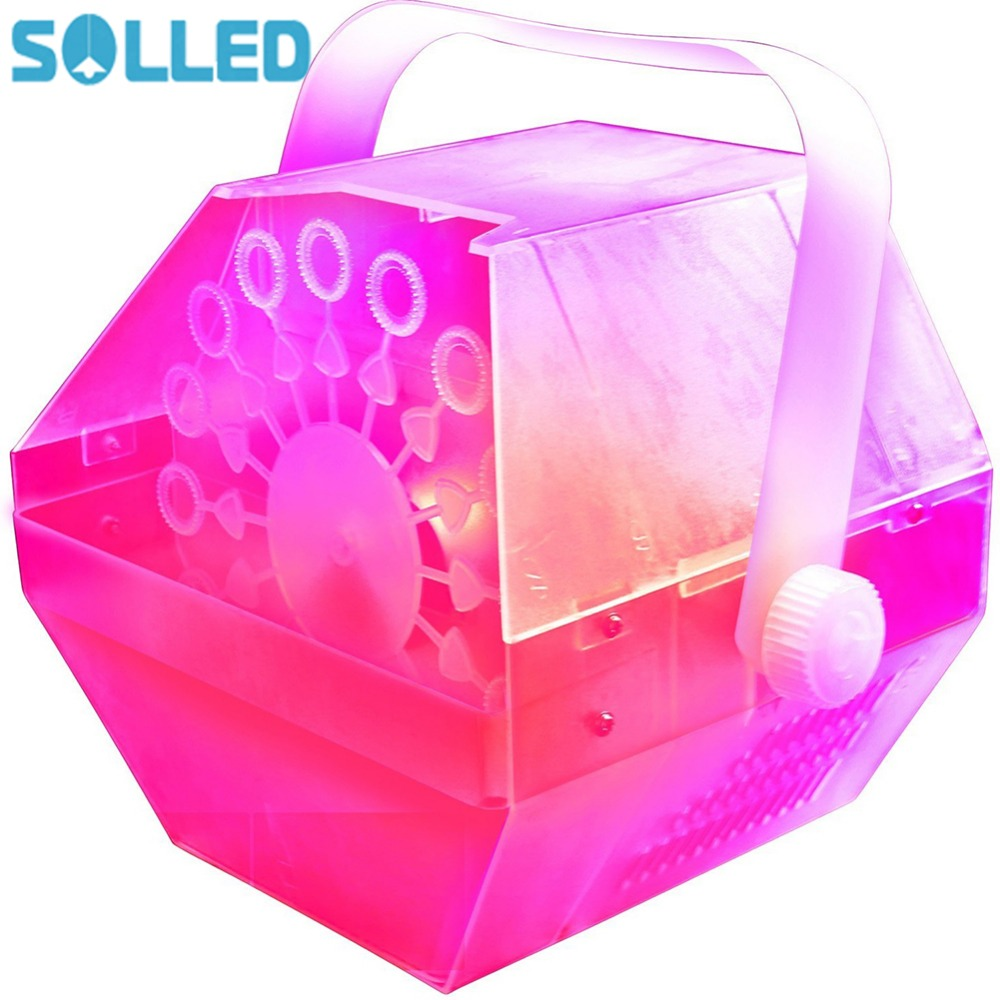 SOLLED Creative LED Lamp Romantic Stage lights Bubble Machine Great for Wedding Birthday Parties Festivals