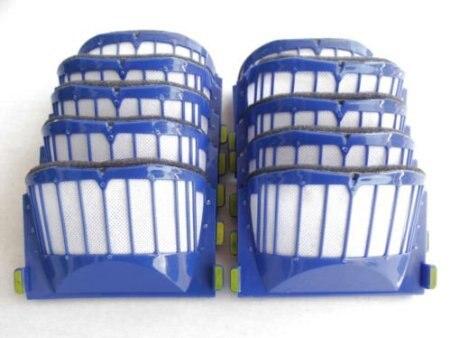 Wholesale 50pcs/set  AeroVac Filter For IRobot Roomba 500 600 Series 536 550 551 552 564 595 630 650 etc,Replacement цены онлайн