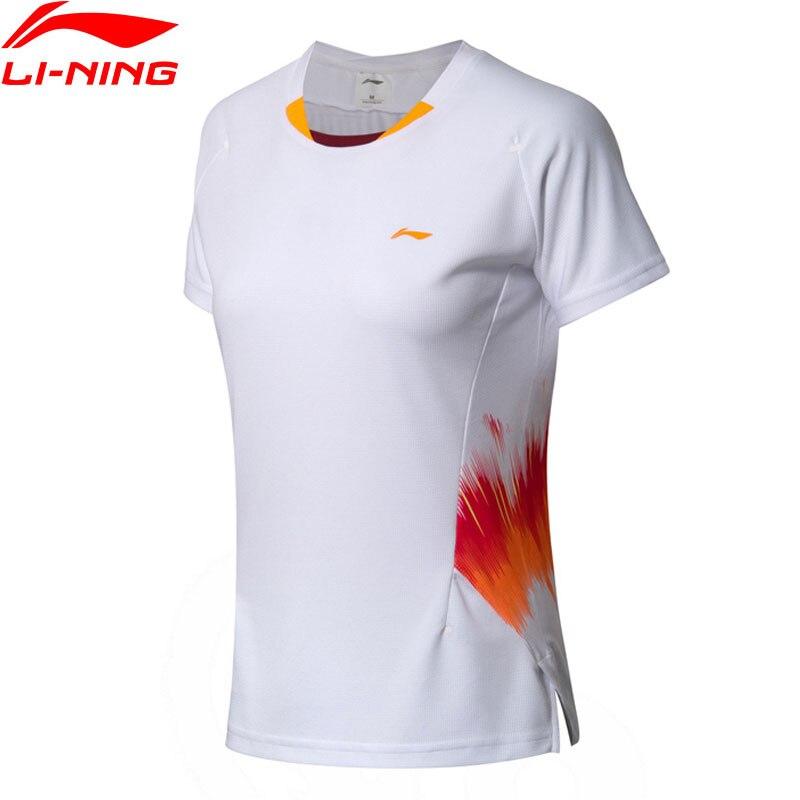 Li-ning femmes Badminton compétition T-Shirts à sec équipe nationale Sponsor Fans Version doublure sport T-Shirts AAYN072 WTS1457