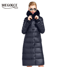 922d01d592e Women Coat Jacket Medium Length Woman Parka With A Rabbit Fur Winter Thick  Coat Women MIEGOFCE