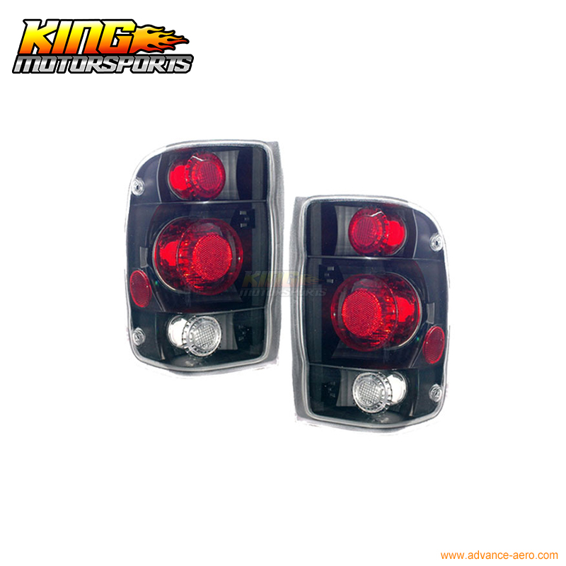 For 98-01 Ford Ranger Tail Lights G2 Black 1999 2000 2001 USA Domestic Free Shipping
