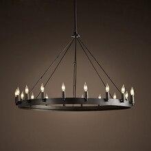 Lámpara de araña samurái, candelabro retro industrial de hierro, para restaurante, bar, tienda de ropa, candelabro de vela de doble círculo