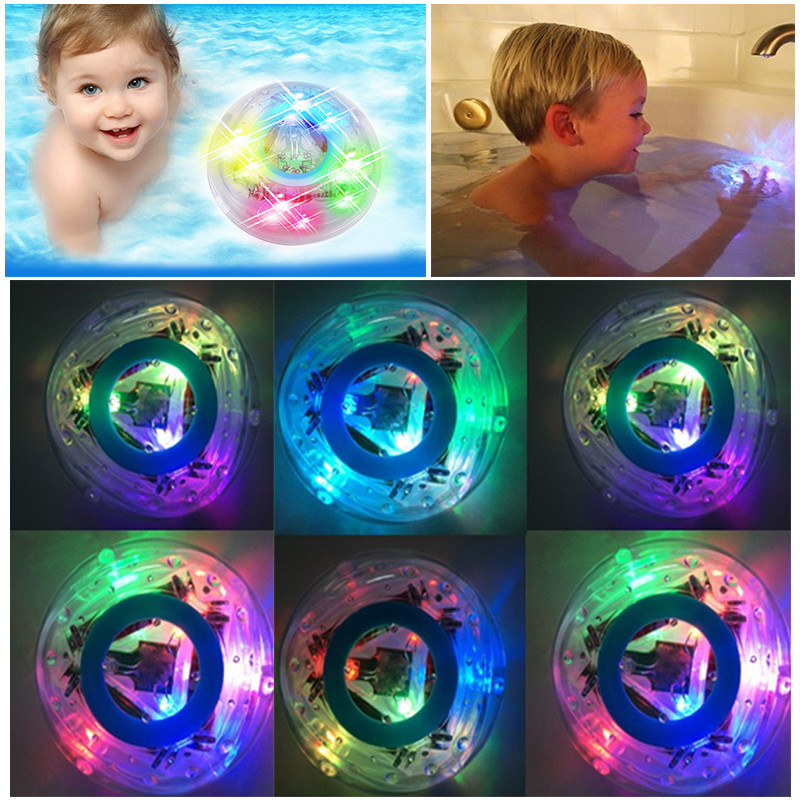 Toys Bath LED tub light For Children Light Baby Kids Waterproof swimming pool Toy Bathroom Funny Gift Summer Hot Sale