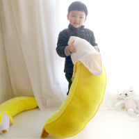 Fancytrader Soft Giant Yellow Banana Plush Pillow Stuffed Realistic Fruit Toy Cushion Gift for Children Sofa Decoration 100cm