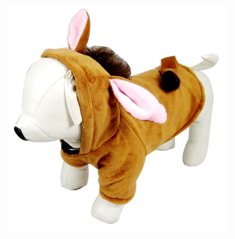 Funny halloween dog horse clothes costume cosplay winter warm Fleece dog pet cat jacket coat small Chihuahua dog hoodie clothing