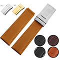 Good Quality 20mm Genuine Leather Replacement Watchband Watch Straps Brand Watch Different Colors