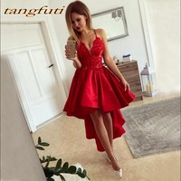 Red Short Lace Cocktail Dresses Women for Graduation Prom Party Coctail Dress vestido de festa curto coctel Cocktail Party