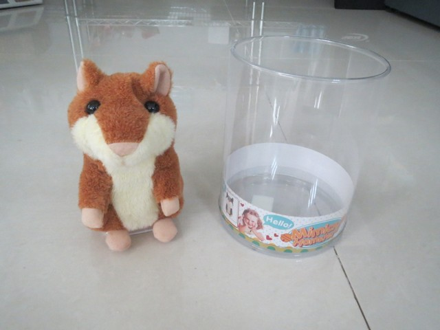 Free shipping Cute Talking plush toy/repeat talking hamster/record and repeat toy