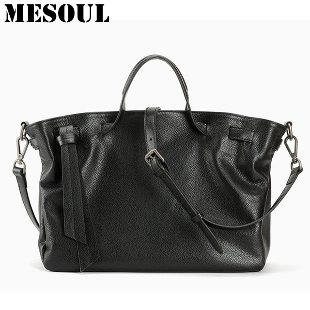 Luxury Top Handle Handbags Genuine Leather Tote Bag Women bags Fashion Soft  Cow Leather Black Shoulder 54df8b2029