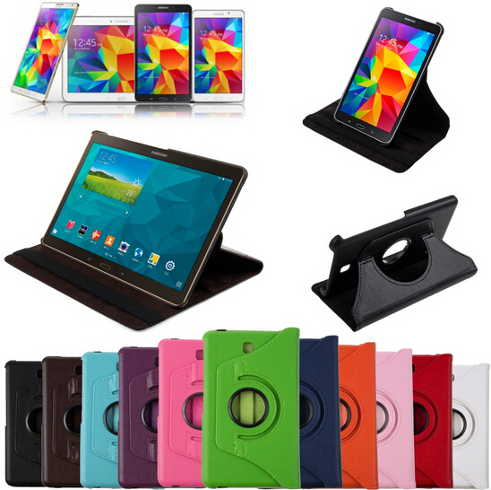 360 Rotating Stand Folio Smart Case Cover For Samsung Galaxy Tab S 8.4 SM-T700/T705 Tablet Screen Protective Film+Stylus Pen luxury folding flip smart pu leather case book cover for samsung galaxy tab s 8 4 t700 t705 sleep wake function screen film pen