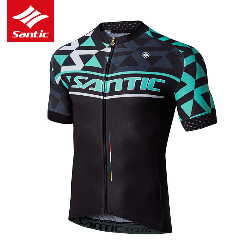 Santic Cycling Jersey 2017 New Men PRO Team MTB Road Bike Jersey Light&Thin Breathable DH Bicycle Jersey Vtt Maillot Ciclismo 2016 new arrivals hot men s cube cycling thermal fleece jersey bib pants sets pro team mtb bicycle clothing bicicleta bike k0709