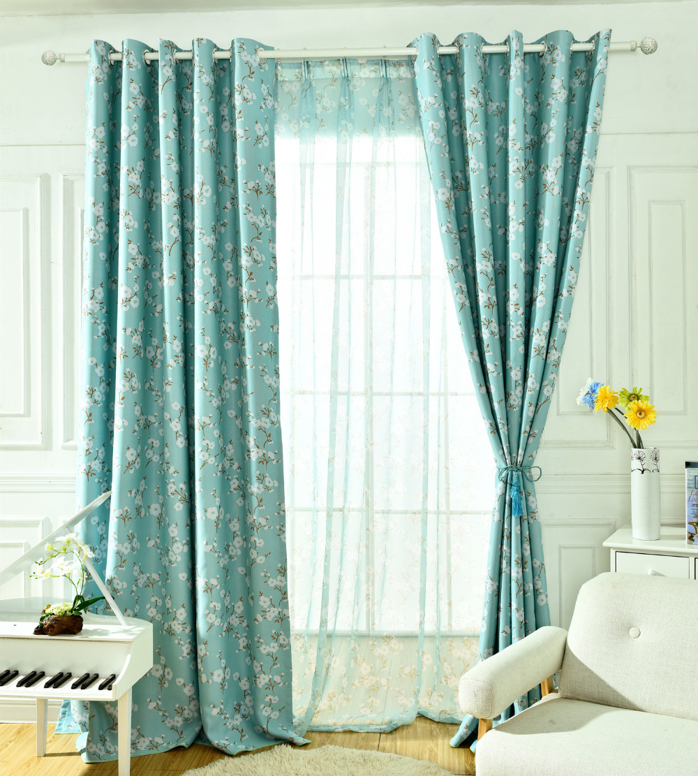New 3 Colors Elegant White Floral Ready Made Curtains for Living ...