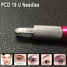 100PCS PCD 19 Pin U Eyebrow Needles Permanent Makeup Blades 19 Manual For Tattoo Needles 3D Microblading Eyebrow