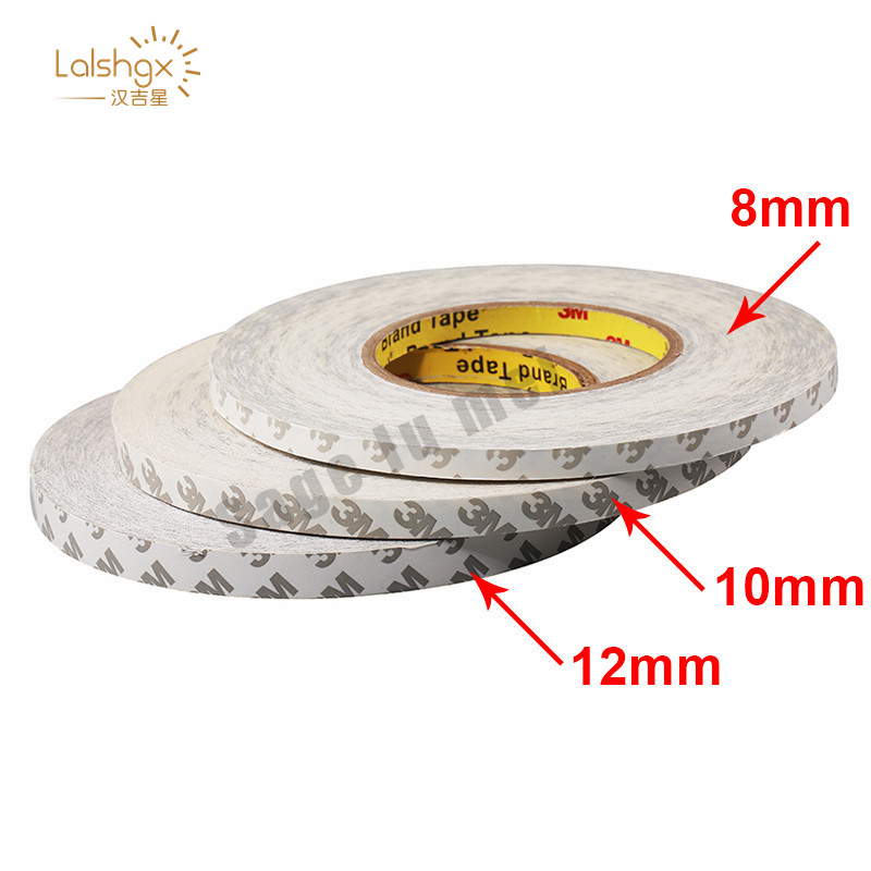 50M/Roll 8mm 10mm 12mm 3M Adhesive Tape Double Sided Tape ws2811 ws2812 3528 5050 Led strips