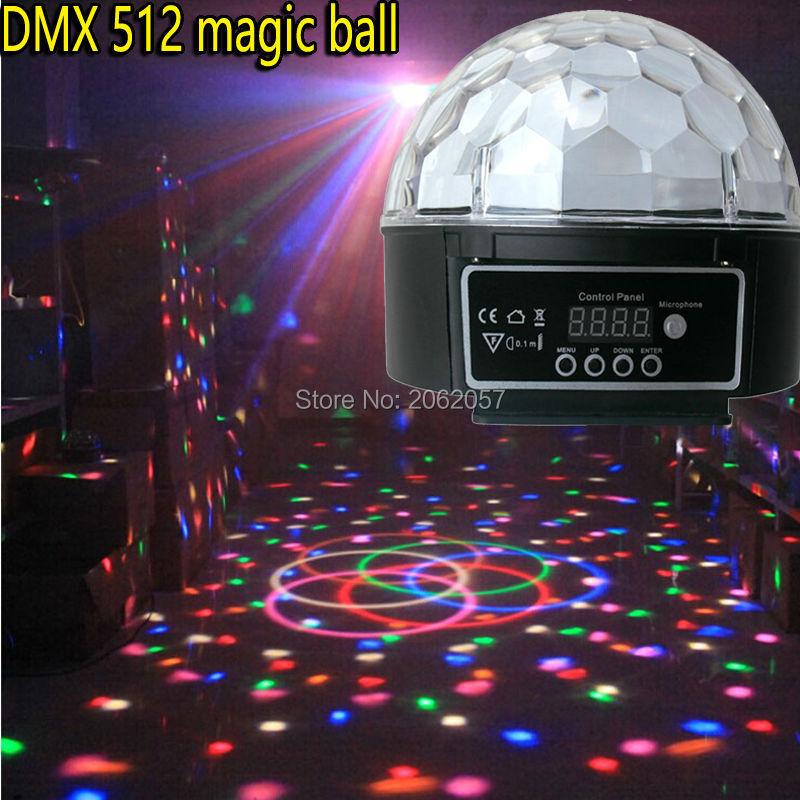 18W LED Disco Ball Light DMX512 Control Dj Music Ball Stage Effect  Soundlights Christmas Home Magic
