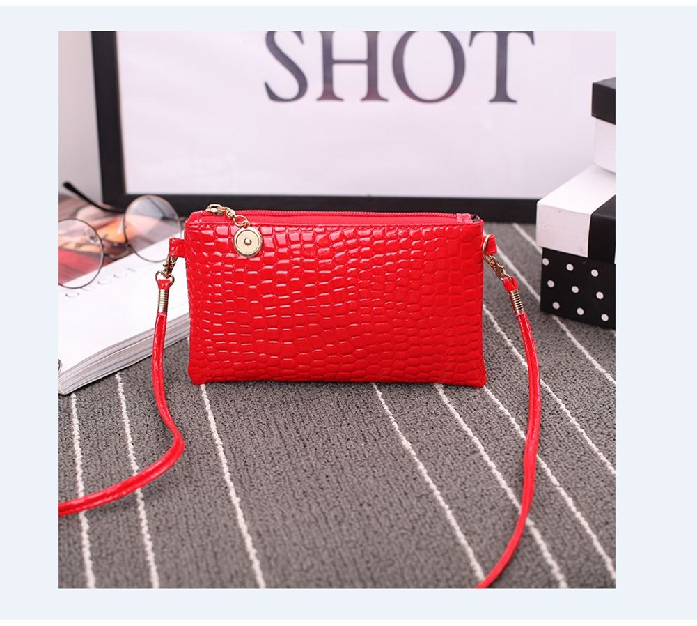 2018 Women Shoulder Bags Fashion Mini Bag Alligator Women Small Messenger Crossbody Bag Ladies Zipper HandBags