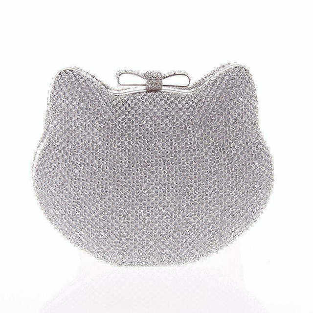 Hot Luxury Ladies Gold Clutch Rhinestone Women Evening Bag Female Chain Handbags Bridal Wedding Wallet Bags bolsas mujer XA1043B