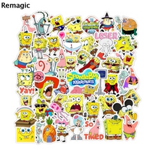 50pcs Squarepants Patrick Star cartoon Stickers pack anime vintage paster cosplay scrapbooking sticker phone laptop waterproof