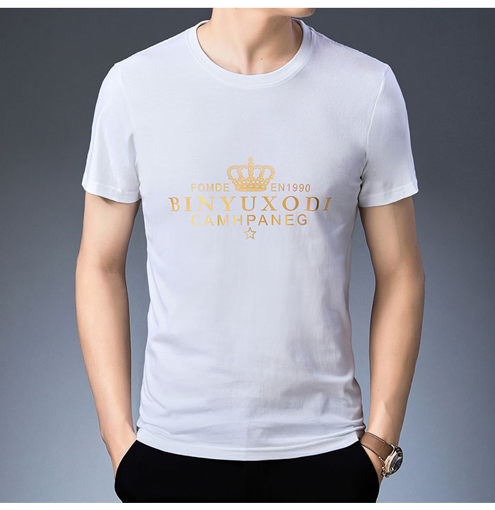 Baishanglinna Spring Summer Short Sleeve Tee Shirt Men Casual O-Neck T-Shirt Men Pure Cotton Top Homme Brand Clothing S - XXXXL 8