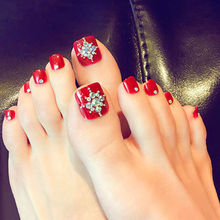 Buy red toenail and get free shipping on aliexpress hot red toenail decals false toe nail tips french manicure diy nail art prinsesfo Image collections