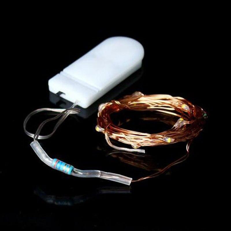 100 pièces 2 M 20 LED s LED étoilé chaîne lumières fée LED s fil de cuivre lumière décorative pour noël guirlande fête de mariage décoration - 6