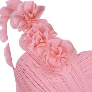 Image 5 - 新到着子供女の子の子の花シフォンドレスパーティーや結婚式のウエディングワンショルダーフォーマル夏マキシドレス