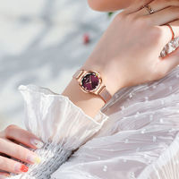 2018 Rose Gold Bracelet Crystal Women Watches Luxury Brand Rhinestone Lady Quartz Wristwatch Dress Female Waterproof Steel Clock đồng hồ gucci dây nam châm
