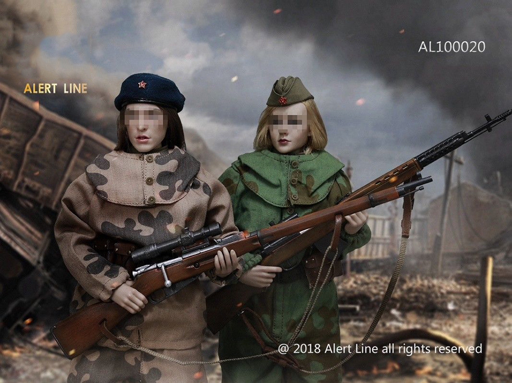 Female Clothes AL100020 1 6 WWII Female Soviet Sniper Solider Cloth Set for 12 quot Action Figure Toys Accessories in Action amp Toy Figures from Toys amp Hobbies