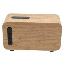 LEORY Portable Desktop HiFi Bluetooth Speaker Wireless Mini TF FM Radio Wooden Speaker 15W Full Range 2200mah Subwoofer