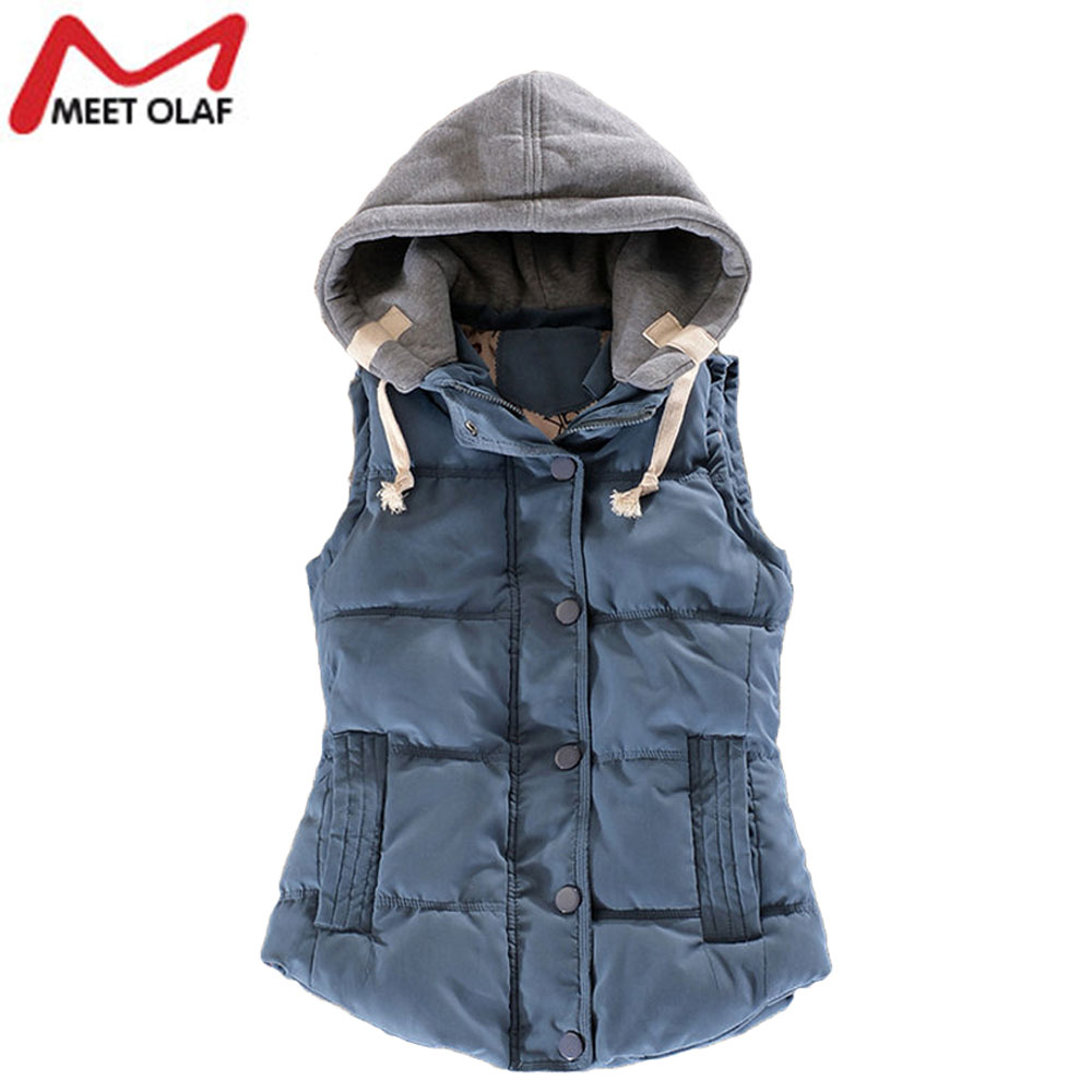 Women Vest New Female Outwear Sleeveless Jacket Winter Down Cotton Warm Women Waistcoat Plus Size Casual Vest YL0375c