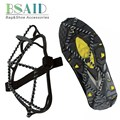 BSAID Anti-slip Ice Gripper Stainless Steel Spring Snow Crampons Traction Cleats Boot Tread Spikes Shoes Ice Grips Climb Hiking
