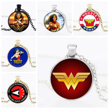 Wonder Woman Movie Logo Pendant Comic Geek choker Necklace with Marvel Super Heroes Jewelry for women and men gift HZ1