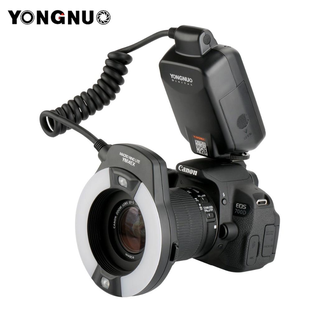 Yongnuo YN-14EX YN14ex TTL Macro Ring Lite Flash Speedlite Luce per Canon 5Ds 5Dsr 760D 5D Mark III 7D 60D 70D 700D 650D 600D