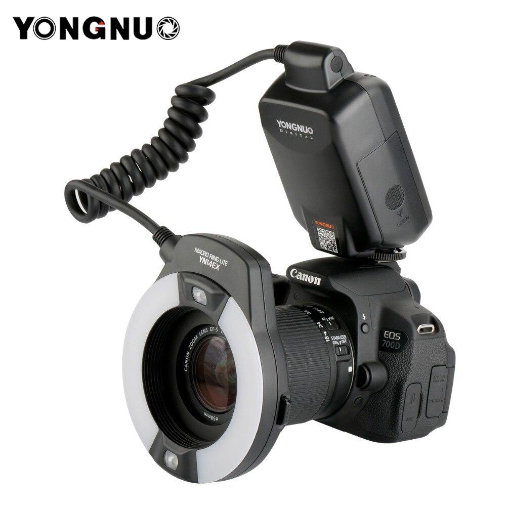 Yongnuo YN-14EX YN14ex TTL Macro Ring Lite Flash Speedlite Lumière pour Canon 5Ds 5Dsr 760D 5D Mark III 7D 60D 70D 700D 650D 600D