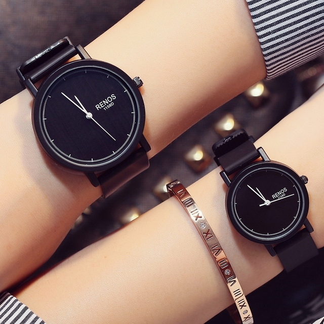 b012923cb63d RENOS Lovers  Wristwatches In Exquisite Box Simple Watch Fashion Casual Couple  Anniversary Gift Watches Amante
