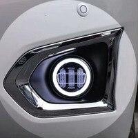 For For Nissan Y62 Patrol Armada 2013 2018 Accessorie Car Front Fog Lamp Fog Light Daytime Running Light