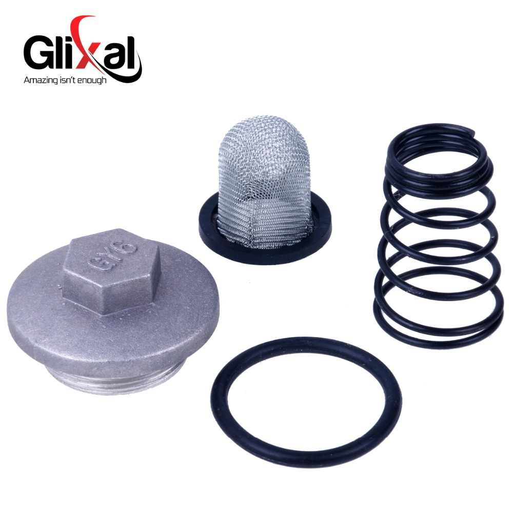 Glixal GY6 49cc 50cc 125cc 150cc Oil Filter Saluran Set untuk 139QMB 152QMI 157QMJ Cina Scooter Moped ATV Mesin