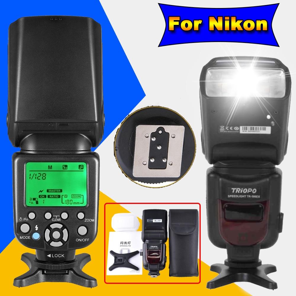 Triopo TR 586EX For Nikon D750 D800 D3200 D7100 D3300 D5100 DSLR Camera Wireless TTL Flash