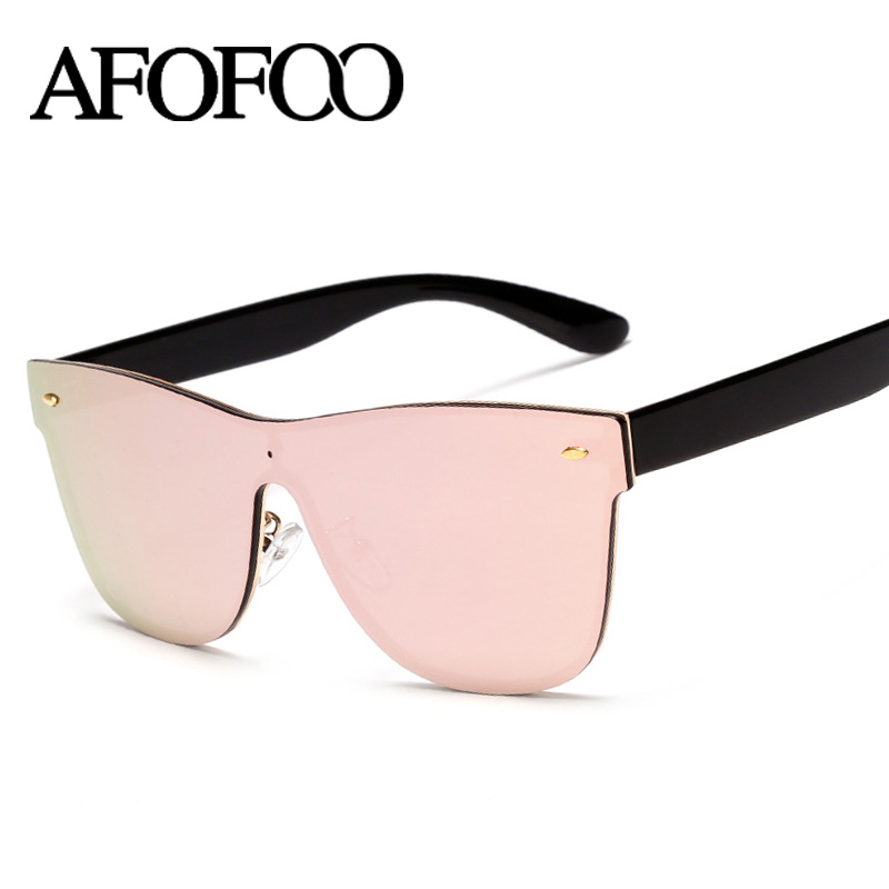 Rimless Glasses New Lenses : Aliexpress.com : Buy AFOFOO New Women Sunglasses Conjoined ...