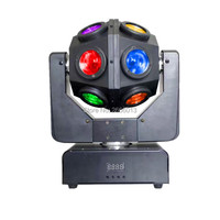 12X10W RGBW beam moving head 4in1 infinite led beam effect lights DMX512 Unrestricted rotation light disco dj home party lamp