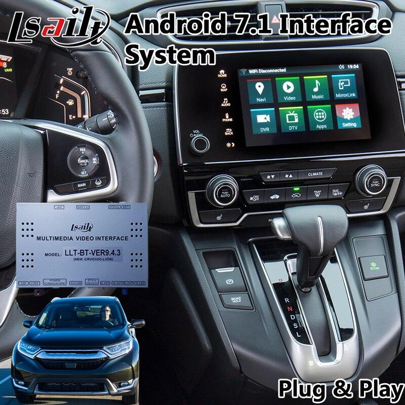 Android 7.1 Auto GPS navigation auto video interface für Honda CR-V 2017-2019 jahr unterstützung installieren 4 kameras