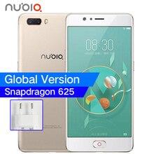 Лучшие Глобальный zte Нубия M2 4 г Оперативная память 64 ГБ Snapdragon 625 Octa Core 5,5 «4 г LTE смартфонов 13.0MP двойной сзади камер отпечатков пальцев мобильный телефон