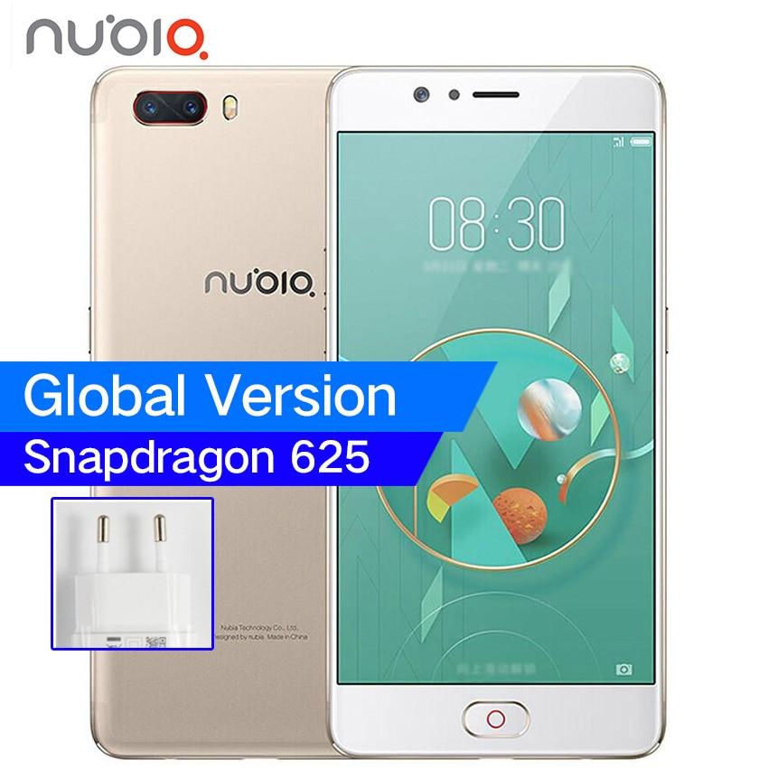 """Глобальный zte Нубия M2 4 г Оперативная память 64 ГБ Snapdragon 625 Octa Core 5,5 """"4 г LTE смартфонов 13.0MP двойной сзади камер отпечатков пальцев мобильный телефон"""