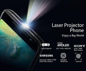 "Image 2 - Blackview MAX 1 สมาร์ทโฟน 6GB + 64GB 6.01 ""หน้าจอ 4680mAh MT6763T Octa Core Android 8.1 Dual โทรศัพท์มือถือซิม NFC Mini โปรเจคเตอร์"