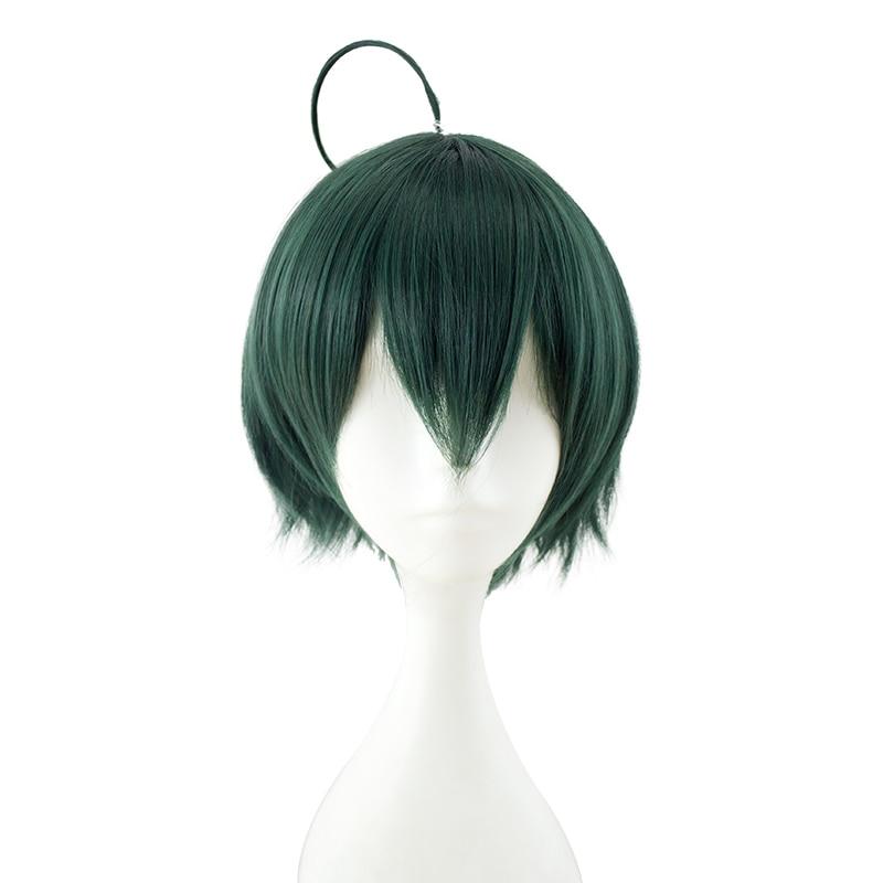 HSIU NEW High Quality Shuichi Saihara Cosplay Wig Danganronpa V3: Killing Harmony Costume Play Wigs Halloween Costumes Hair