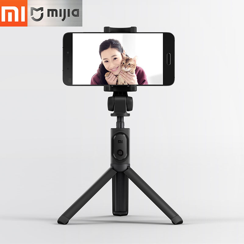 все цены на Original Xiaomi Mi Foldable Tripod Selfie Stick Bluetooth Selfiestick With Wireless Shutter Selfie Stick For iPhone Android